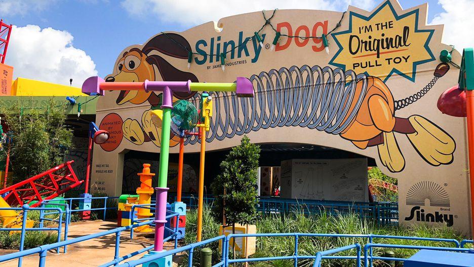 Algumas das atrações da Toy Story Land