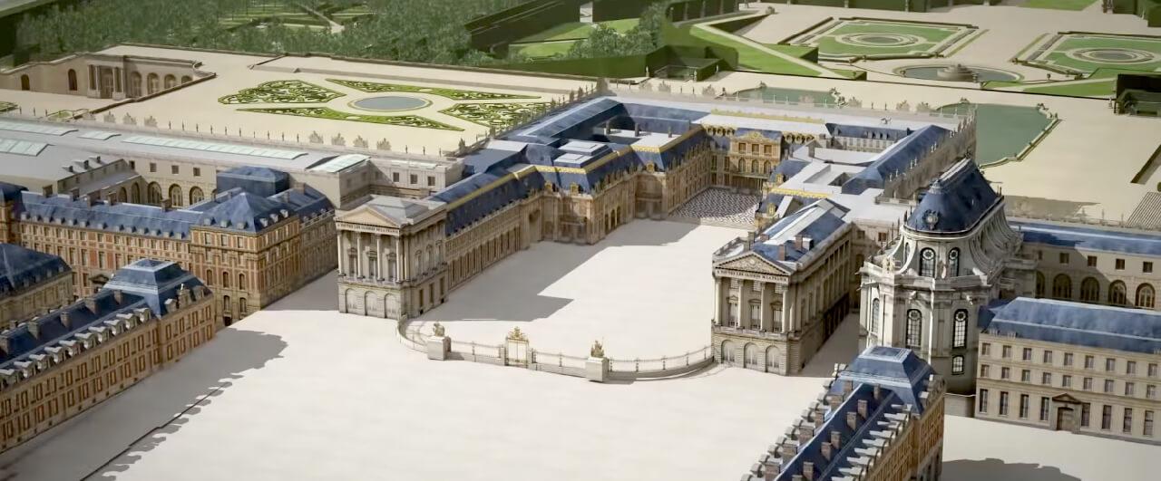 Palácio de Versailles em 3D