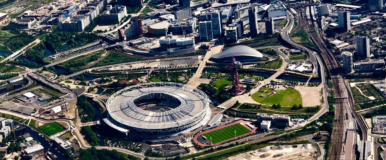 Parque Olímpico de Londres visto de cima