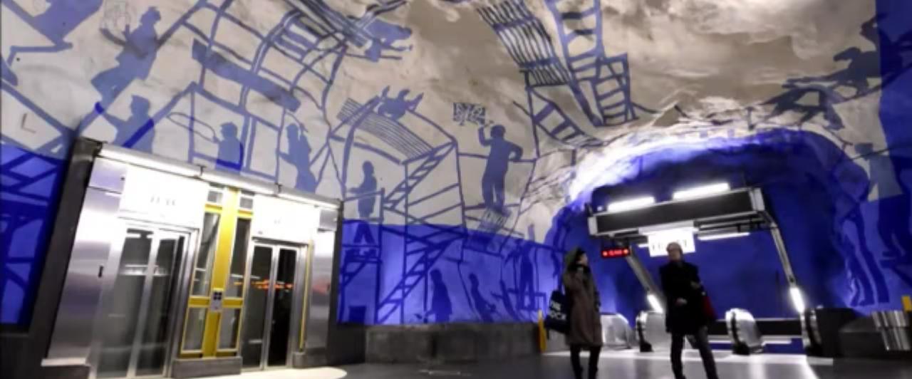 Arte no metrô de Estocolmo