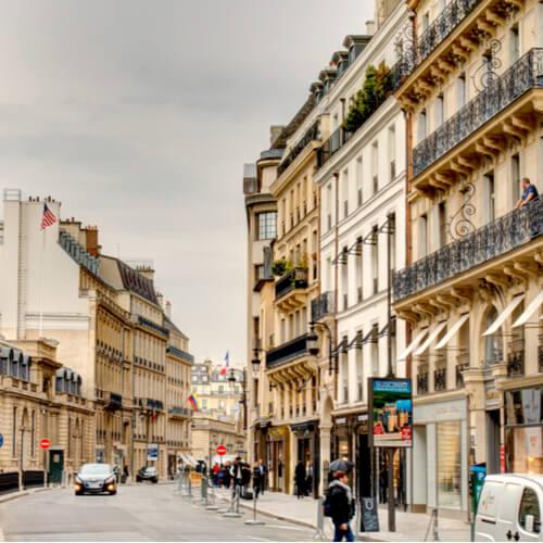 Rue St Honore em Paris