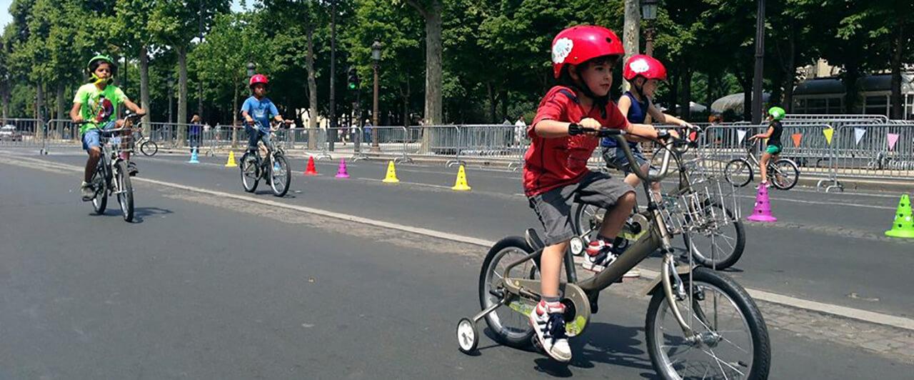 Bicicletas para crianças em Paris