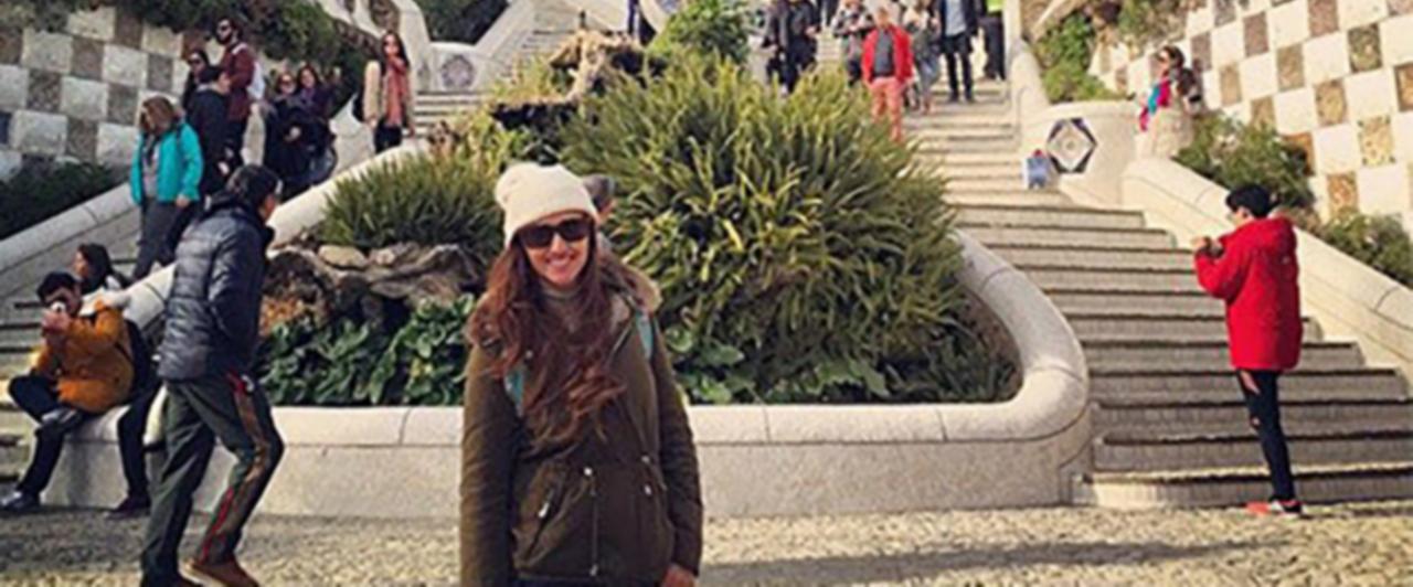 Natália estudou espanhol em Barcelona!