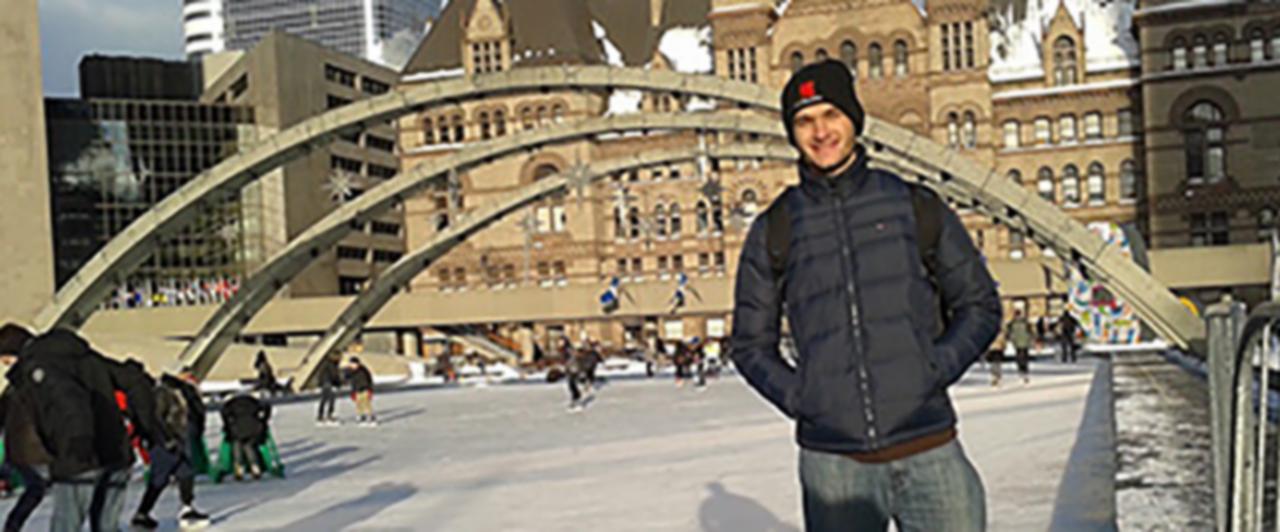 Em Toronto, Victor aliou o estudo e belas paisagens.