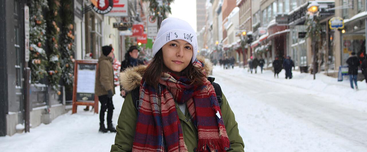 Danielle contou como foi participar do programa Férias Teen Toronto