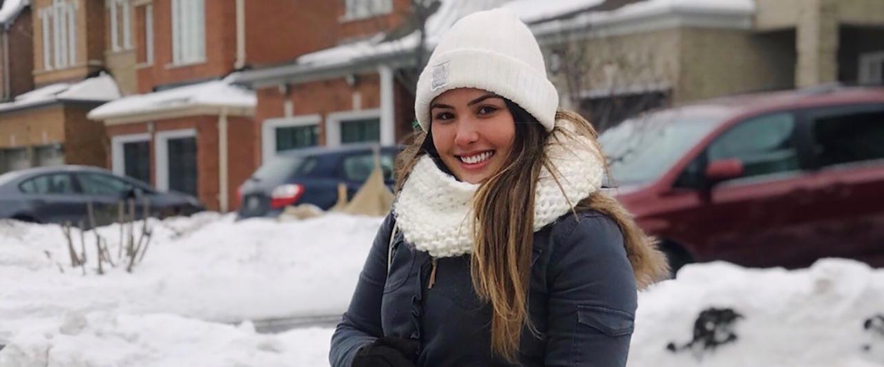 Julia passou as Férias em Toronto e decidiu ficar mais tempo no Canadá