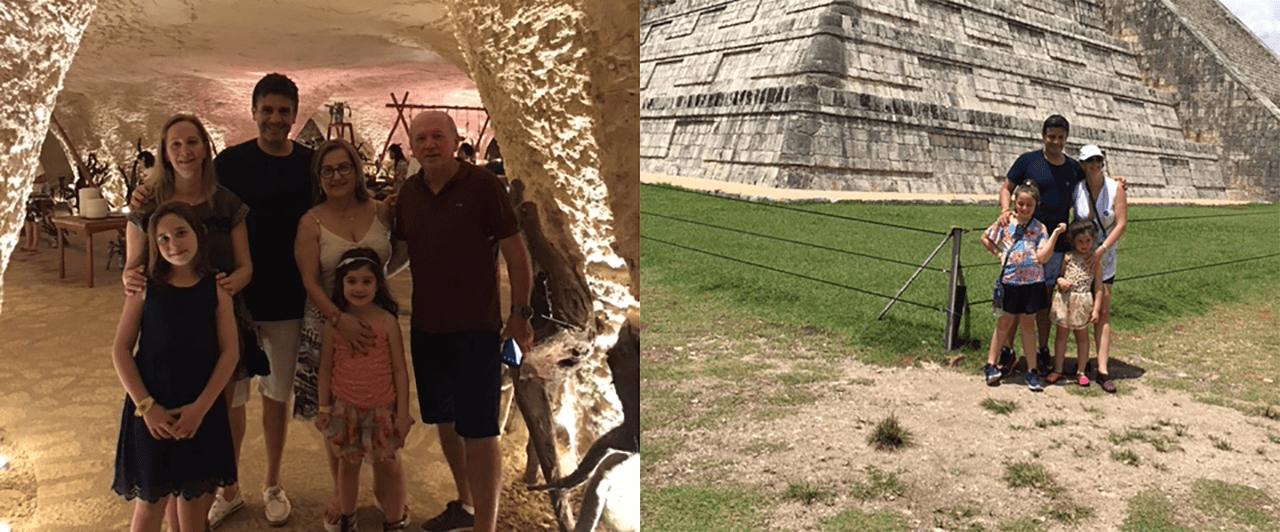 Sabrina passou as férias com a família no México