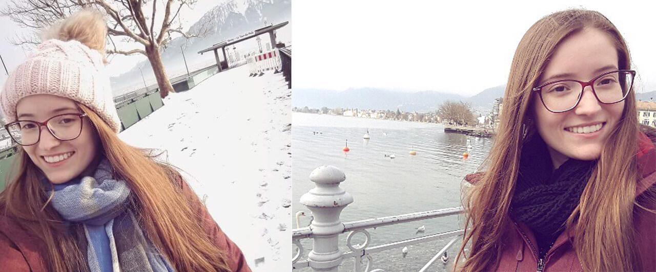 Júlia estudou francês na Suíça e contou como foi