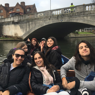Punting on the Cam River – Janeiro/2019