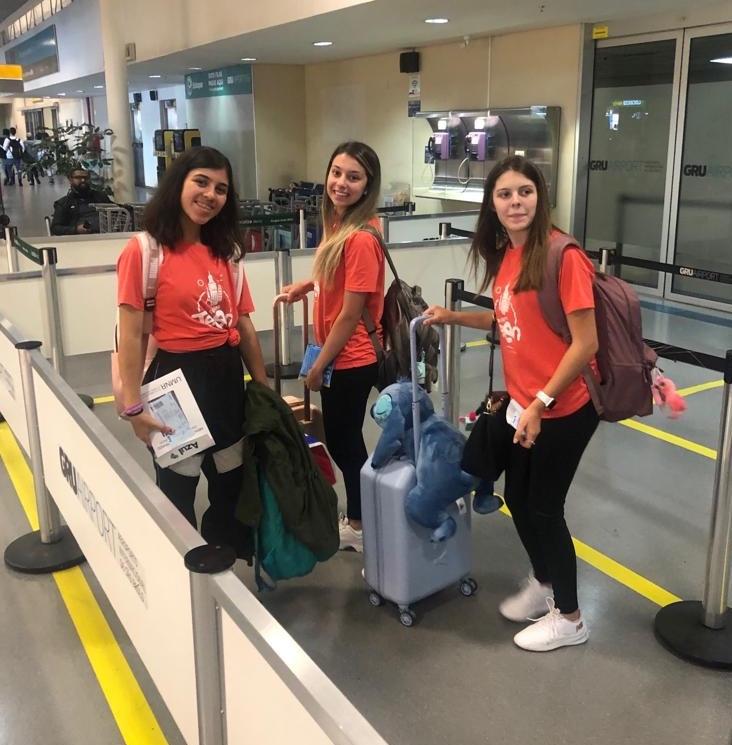 Nossos passageiros do Férias Teen Malibu já estão no Brasil