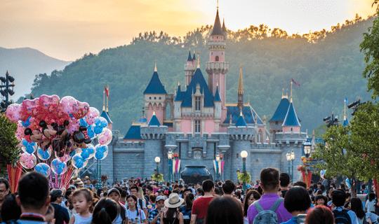 Viagem para a Disney em alta temporada