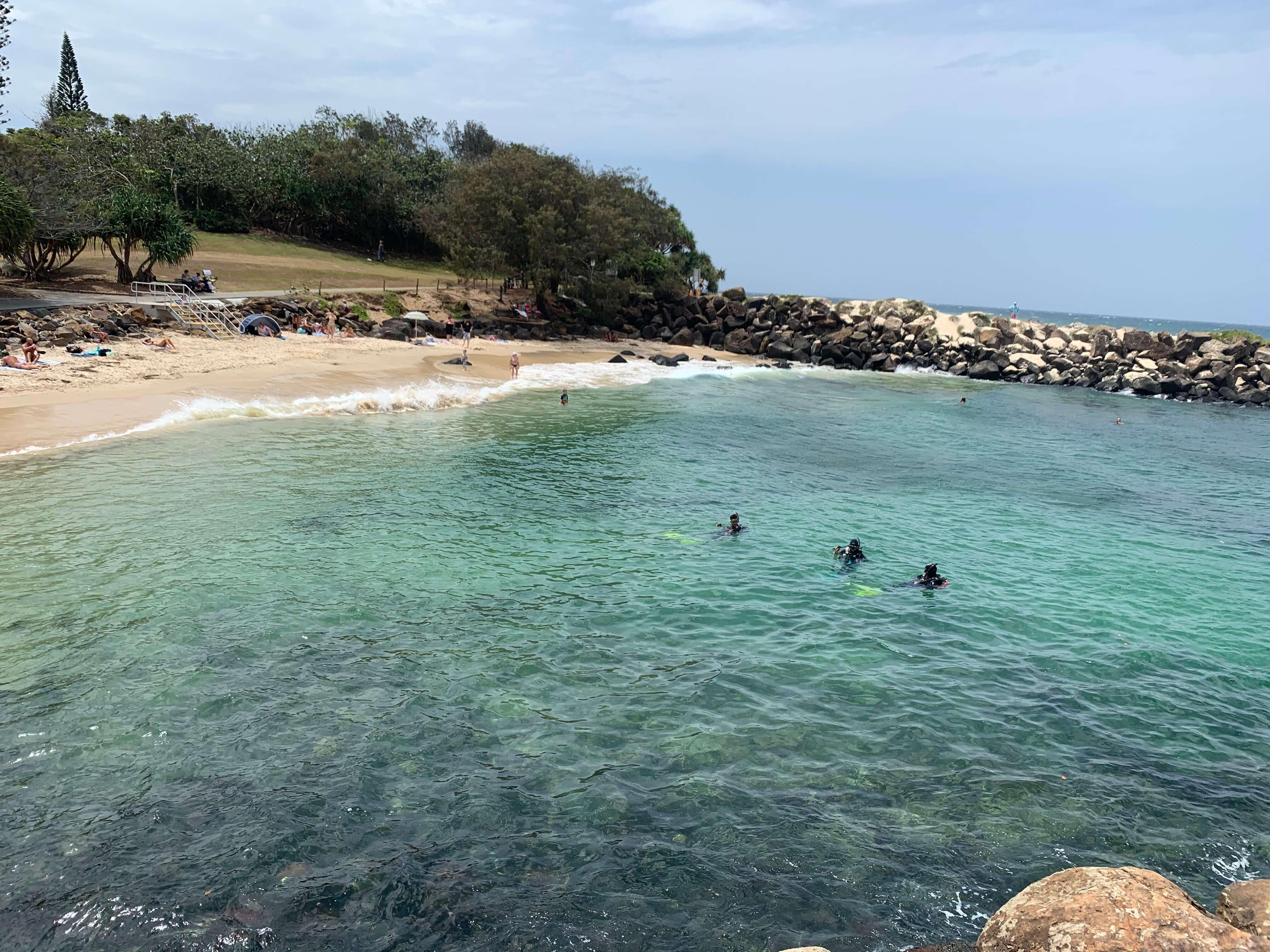Durante seu intercâmbio de estudo e trabalho na Austrália, Bruno nadou na grande barreira de corais