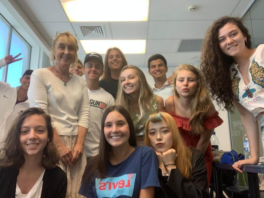 Amigos que Júlia fez durante o Férias Teen na Nova Zelândia