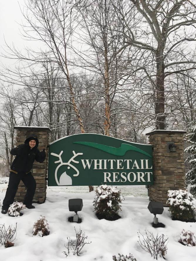 Vinicius trabalhar no Whitetail Resort