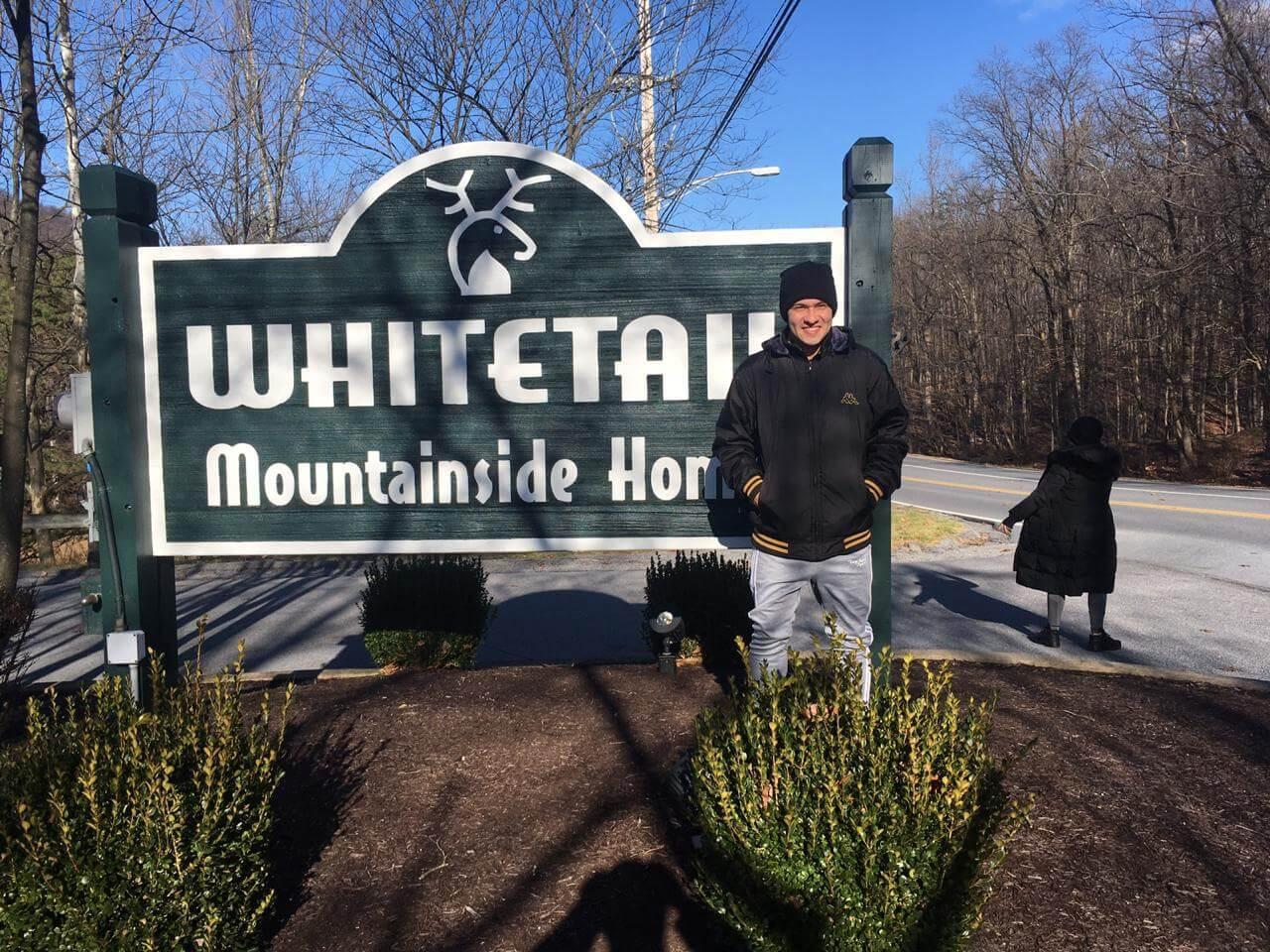 Vinícius trabalhou como ski instructor em Whitetail