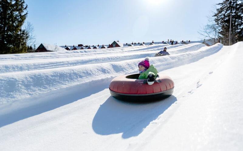 Em Mount Snow há trilhas mais fáceis que podem ser feitas até mesmo por crianças