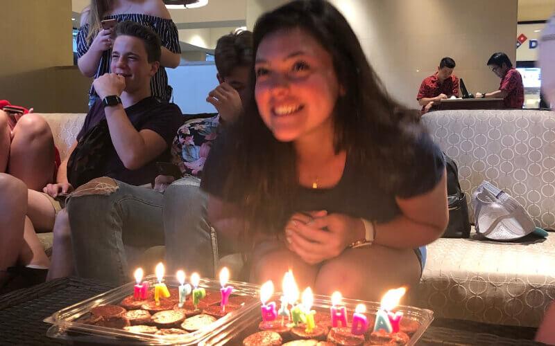 Comemoração do seu aniversário no Hawaii