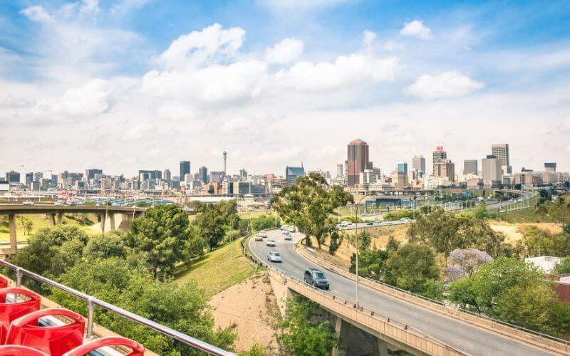 Joanesburgo, na África do Sul