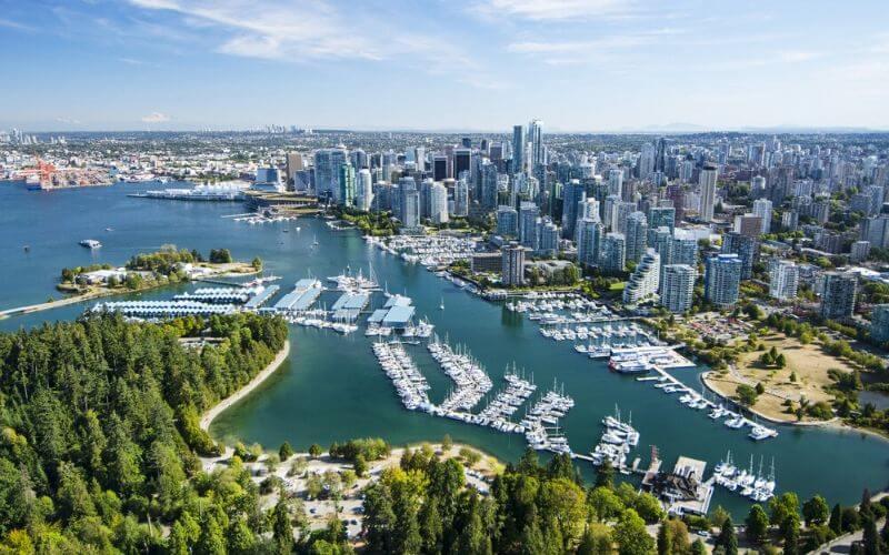 Vancouver, no Canadá, também está na lista das cidades mais verdes do mundo