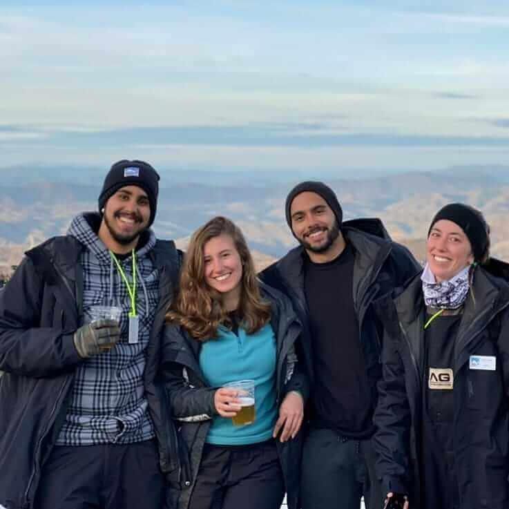 Amigos que Arthur fez durante o programa Work and Travel da Intercultural