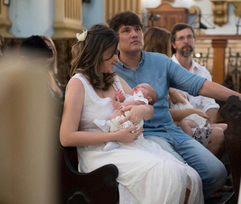 Hoje, Luciana e Eduardo são pais do Gui